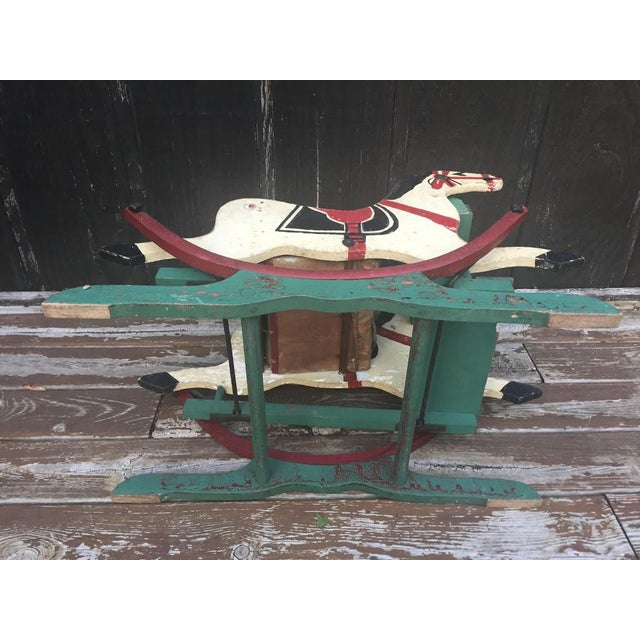 Late 1800s Victorian Double Rocking Horse For Sale - Image 6 of 11