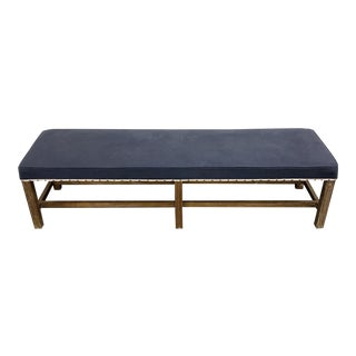 Barclay Butera Blue and White Bench For Sale