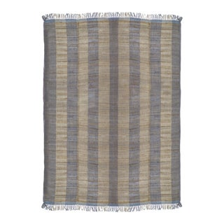 Featured in The 2020 San Francisco Decorator Showcase — Handwoven Silk & Wool Throw Blanket For Sale
