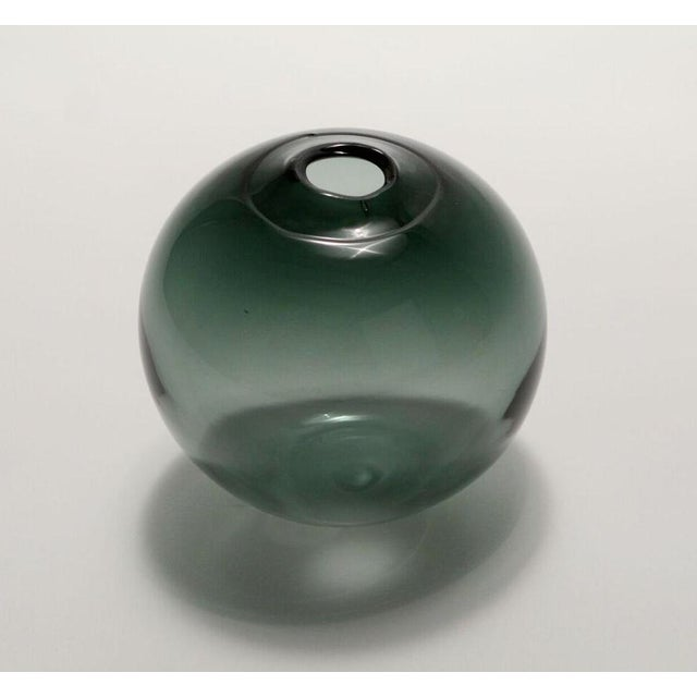 """Abstract SkLO Float Glass Vessel 6"""" - Smoke For Sale - Image 3 of 3"""