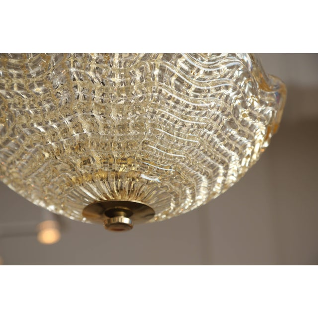 Crystal Ceiling Lamp by Carl Fagerlund for Orrefors, Swedish, 1960s For Sale In West Palm - Image 6 of 7
