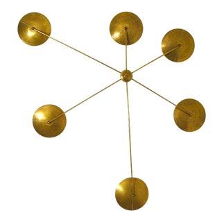Brass Mid Century Italian Style Chandelier For Sale