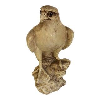 Vintage Painted Aluminum Falcon Statue