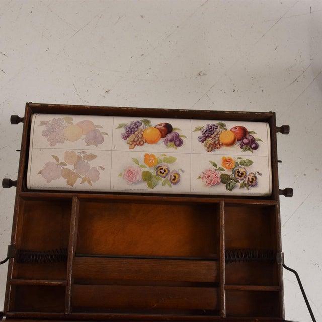 Brown Antique Chautauqua Industrial Art Desk Lewis E. Myers & Company For Sale - Image 8 of 11