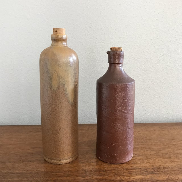 Vintage French Pottery Bottles - A Pair - Image 2 of 11