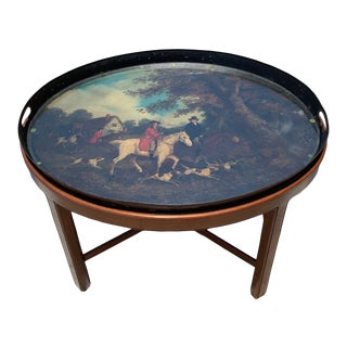 Late 18th Century Tole Tray Table For Sale