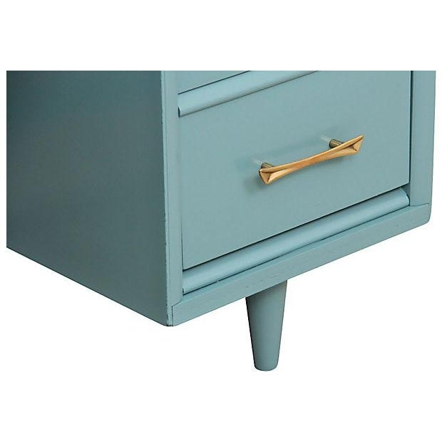 Mid-Century Pale Blue Desk - Image 4 of 7