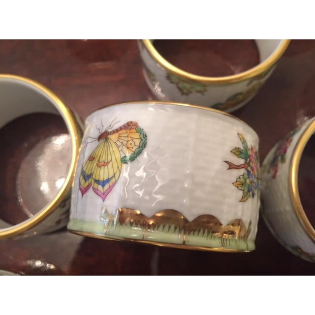 Traditional Late 20th Century Herend China Queen Victoria Napkin Rings - Set of 8 For Sale - Image 3 of 9