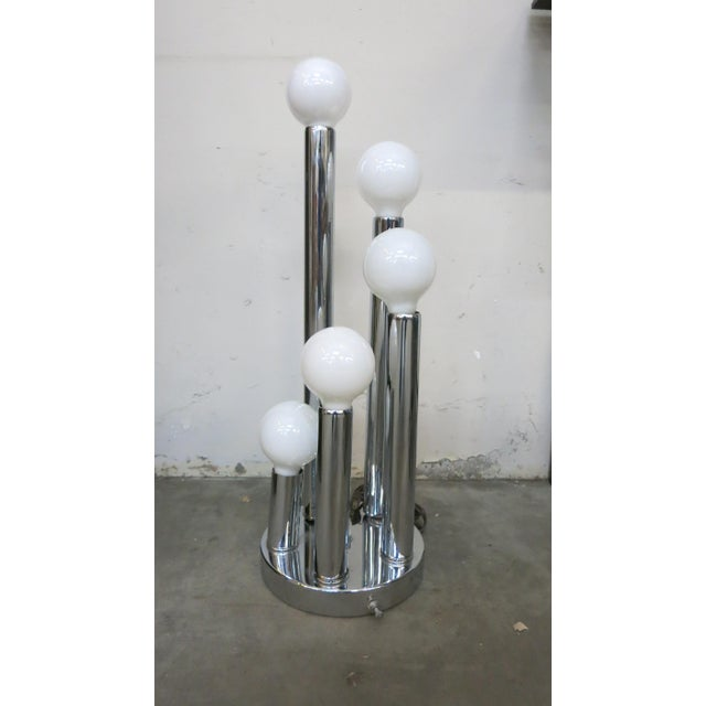 Sonneman Style Chrome Ball Table Lamp, by Torino Italy For Sale - Image 10 of 10