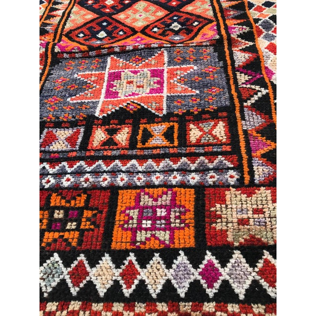 """Hand Made Vintage Turkish Runner- 2'10""""x11'2"""" For Sale - Image 6 of 9"""