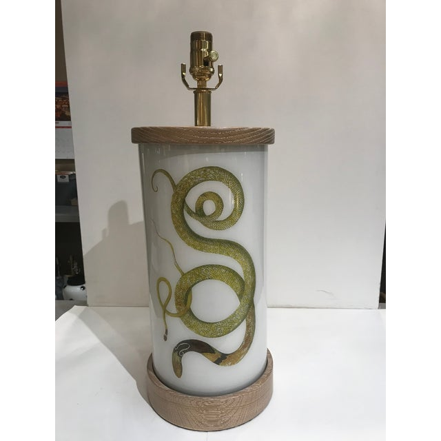 Liz Marsh Designs Single Golden Serpent Table Lamp For Sale - Image 12 of 12