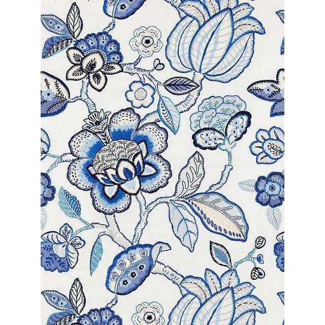 Sample, Scalamandre Coromandel Embroidery, Porcelain Fabric For Sale