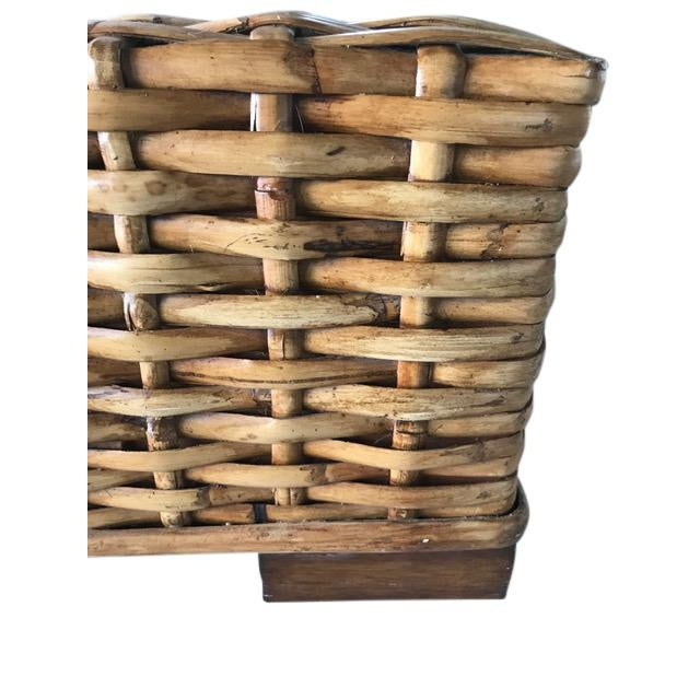 Country Ralph Lauren Woven Rattan King Bedframe For Sale In Tampa - Image 6 of 8