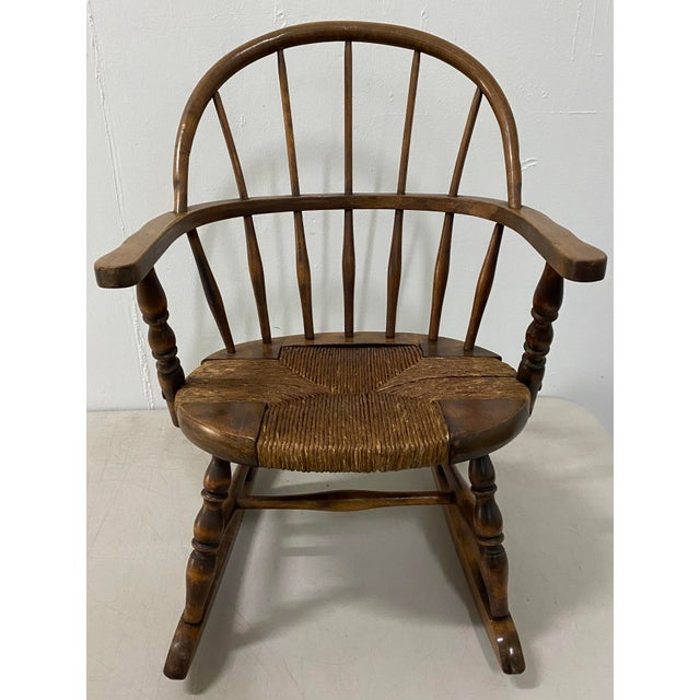 Late 19th Century Childs Windsor Rocking Chair For Sale - Image 10 of 10