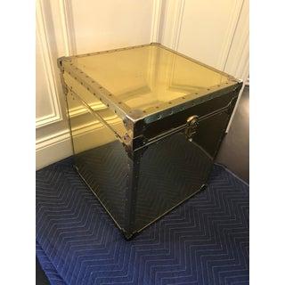 Vintage Gold Metal Storage Trunk Preview