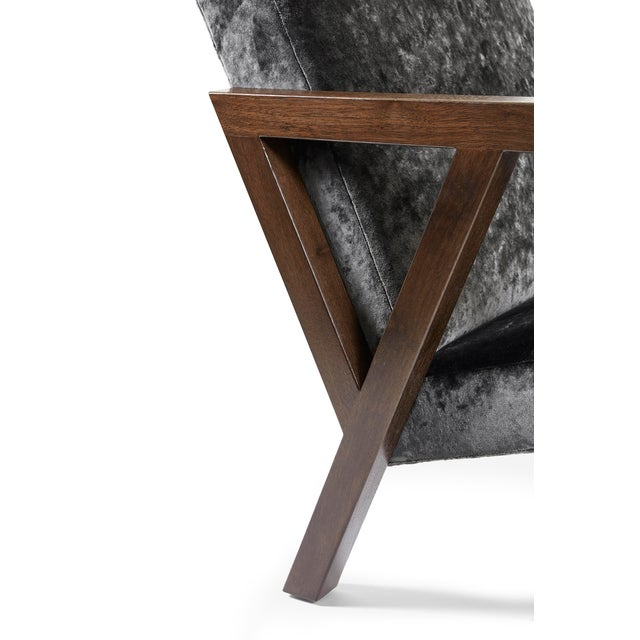 Modern Walnut Moda Chair For Sale In New York - Image 6 of 8