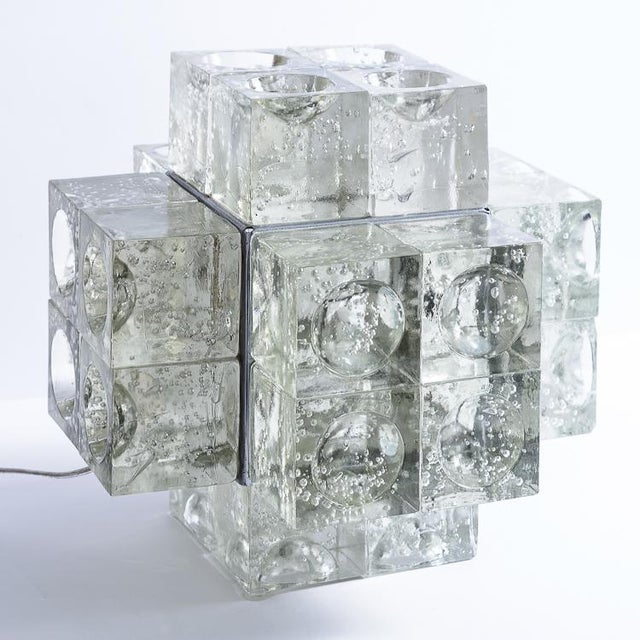 Murano Glass Italian Mid-Century Table Lamp by Albano Poli for Poliarte, 1960s For Sale - Image 12 of 12