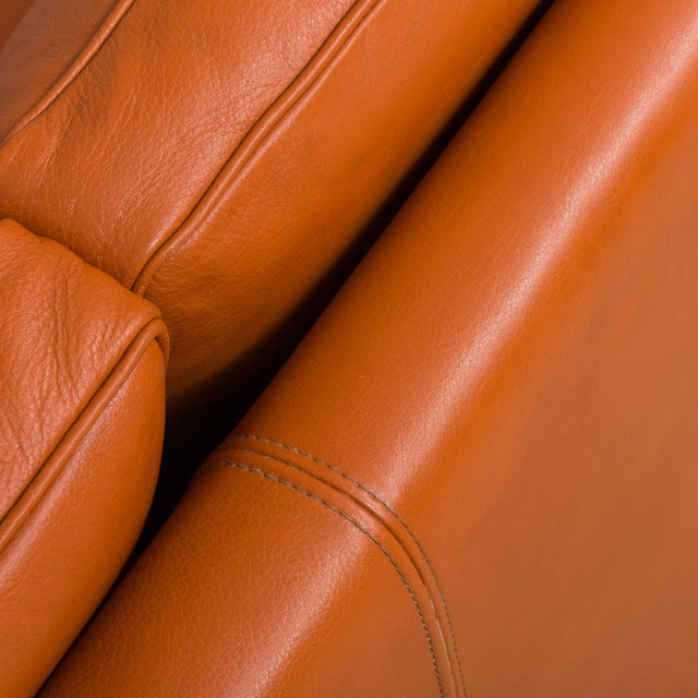 1970s Vintage Stouby Cognac Leather 3 Seat Sofa For Sale In New York - Image 6 of 12