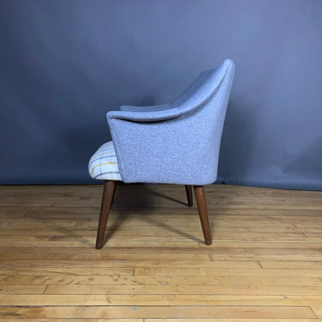 Danish 1960 Armchair, New Mood Nyc Upholstery For Sale - Image 4 of 9
