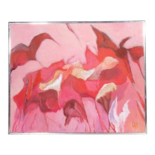 """""""Aurora"""" Signed Mid-Century Abstract Oil Painting on Canvas For Sale"""
