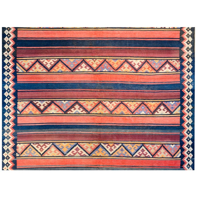 Persian Early 20th Century Zarand Kilim Rug For Sale - Image 3 of 8