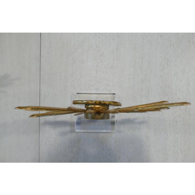 Wood Agate & Gold Leaf Starburst Tabletop Sculptures - Set of 3 For Sale - Image 7 of 9