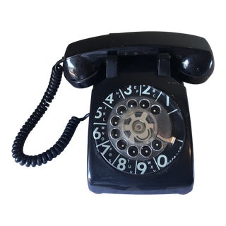 Vintage Black Rotary Phone For Sale