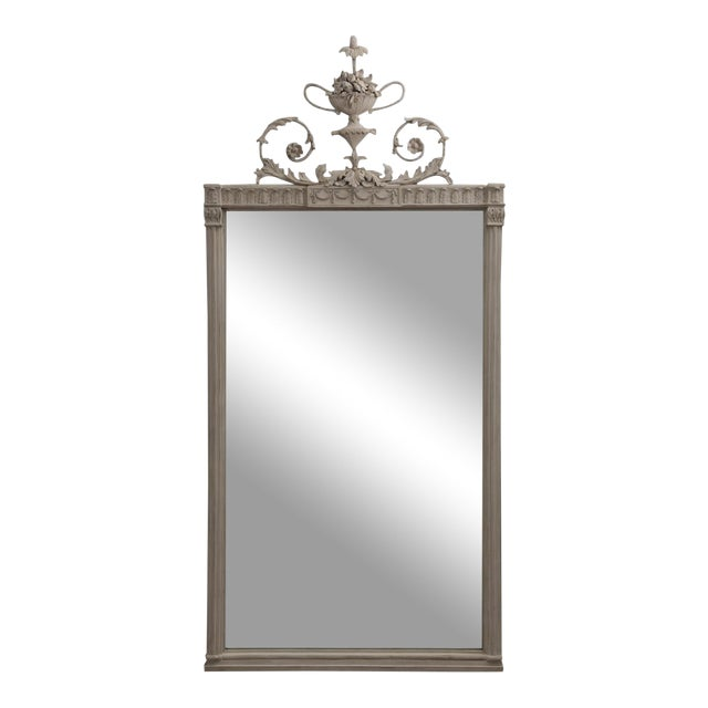 Antique English Neoclassical Scroll Motif Mirror For Sale
