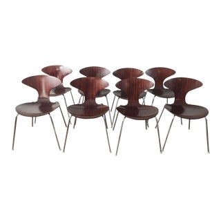 Bernhardt for Orbit Zebrawood Dining Chair - Set of 8