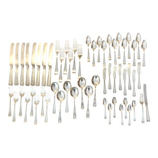 "1913 Gorham Etruscan Sterling Silver Monogrammed ""B"" Flatware Set - 58 Piece Set For Sale"