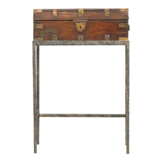 19th Century English Document Box on Stand For Sale