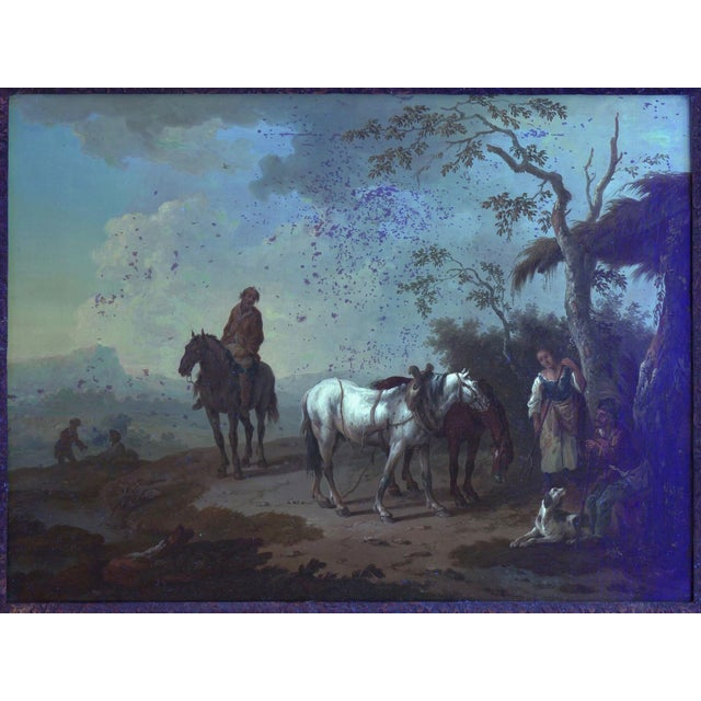 18th Century Antique Landscape Paintings Attr. To Pieter Van Bloemen - a Pair For Sale - Image 12 of 13