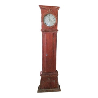 Early 19th Century Antique Swedish Neo Classic Style Tall Case Clock For Sale