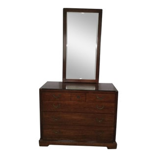 National Mt. Airy Campaign-Style Dresser and Mirror - 2 Pc. For Sale