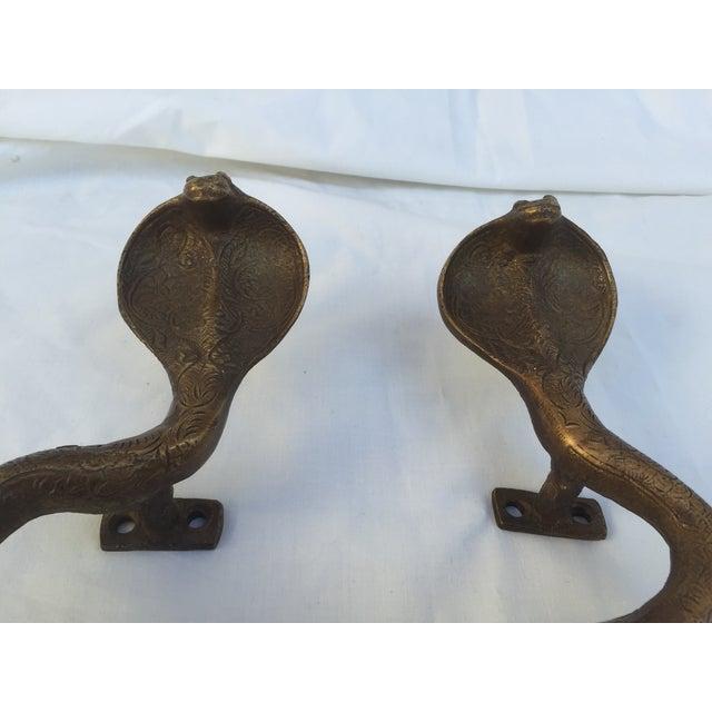 Brass Cobra Door Handles - A Pair - Image 3 of 8