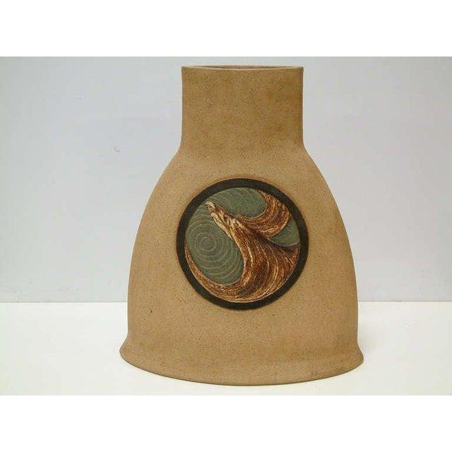 1978 Nittenegger Stoneware Vase For Sale - Image 4 of 10