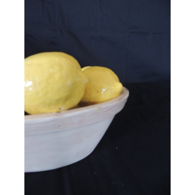 1970s Trompe-l'Oeil Lemons Inside Faux Wooden Porcelain Basket For Sale - Image 5 of 7