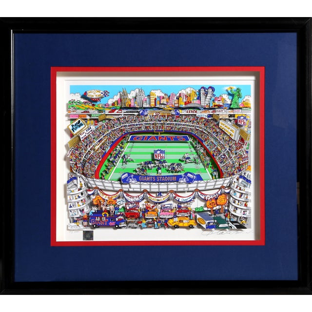 """Giants"", 3-D Serigraph of Giants Stadium by Charles Fazzino For Sale In New York - Image 6 of 6"
