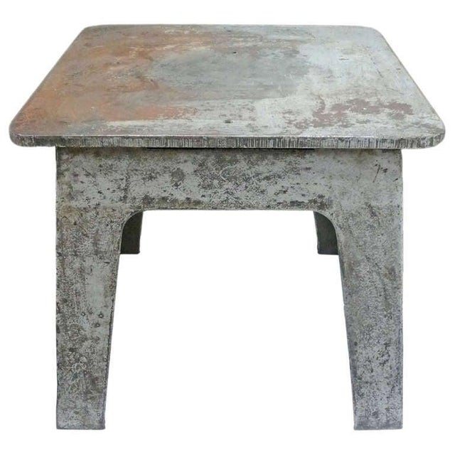A wonderful industrial piece with great character and surface. Thick plate-steel construction with two sets of gracefully...