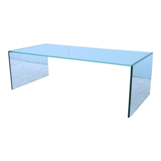Modern Niels Bendtsen Rectangular Glass Pool Coffee Table For Sale