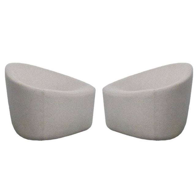 Zanotta Italian Modernist Sculptural Upholstered Lounge Chairs - a Pair For Sale - Image 9 of 9