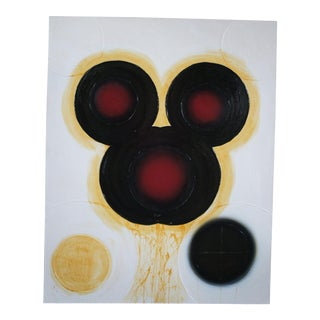 """""""Joey a Mechanical Boy (Black Mickey)"""" Abstract Oil Painting on Linen by Matthew Weinstein For Sale"""