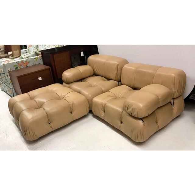 B&b Italia Camaleonda Mario Bellini All Leather Modular Sectional Sofa 3 Pieces For Sale - Image 10 of 11