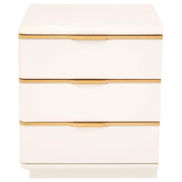 Lane 3-Drawer Lacquered Chest For Sale