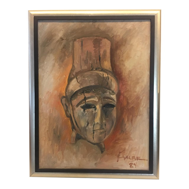 "1984 Amin Kalaf ""The Lady of Alba"" Oil Painting For Sale"