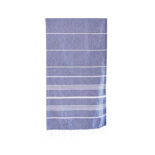 Blue Turkish Bath Towel For Sale