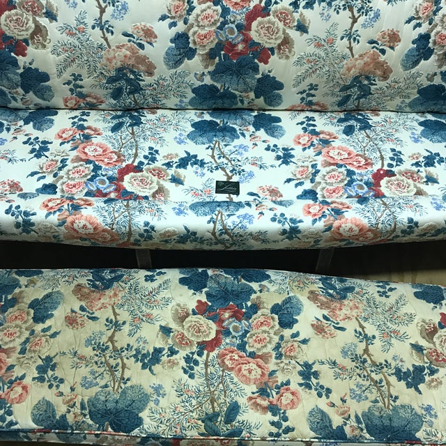 Hollyhock Chintz Camelback Sofa For Sale In Charlotte - Image 6 of 11