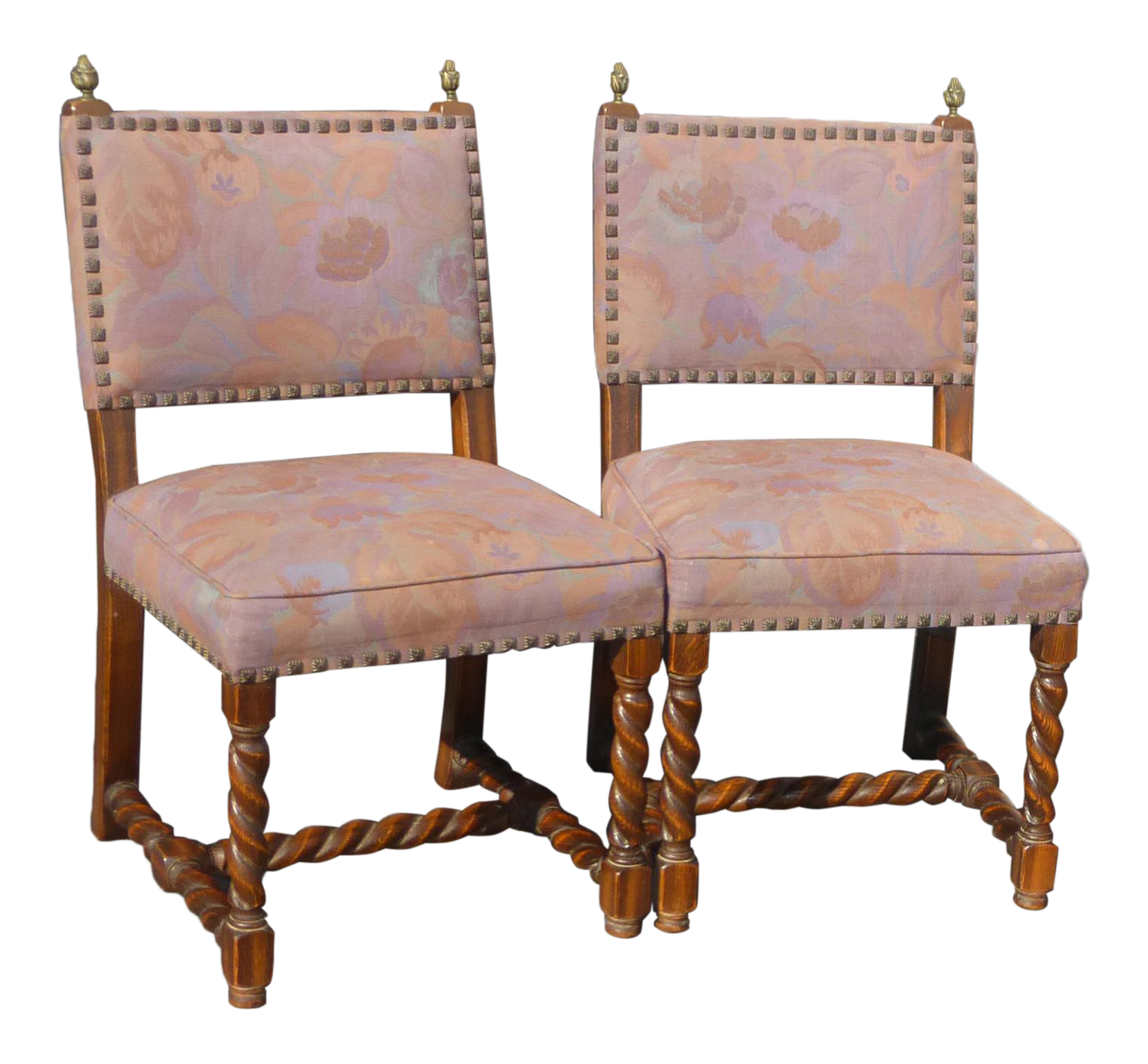 Pair Vintage Spanish Mission Style Barley Twist Mauve Accent Chairs Floral For Sale  sc 1 st  Chairish & Vintage u0026 Used Spanish Accent Chairs   Chairish