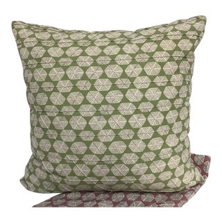 "Contemporary Pillow Thibaut Parada Print Pillow - 20"" X 20"" For Sale"