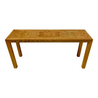 1970s Lane Burlwood Console Table For Sale